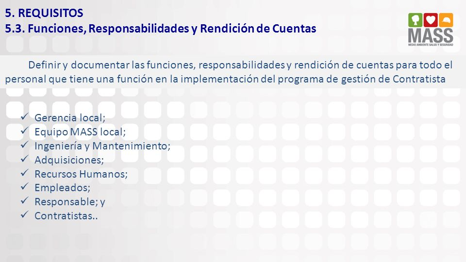 5.3. Funciones, Responsabilidades y Rendición de Cuentas
