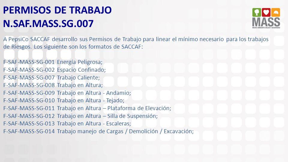 PERMISOS DE TRABAJO N.SAF.MASS.SG.007