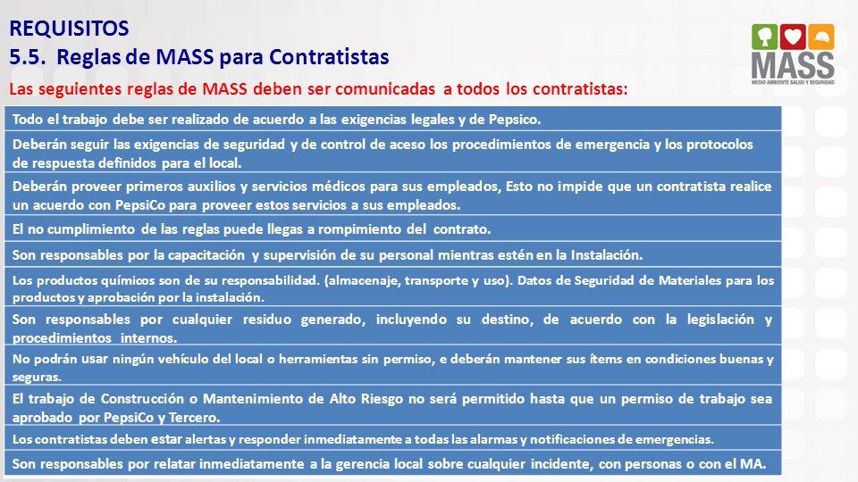 5.5. Reglas de MASS para Contratistas