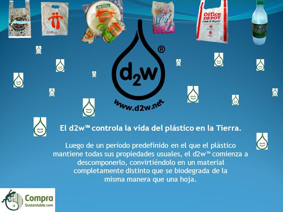 El d2w™ controla la vida del plástico en la Tierra.