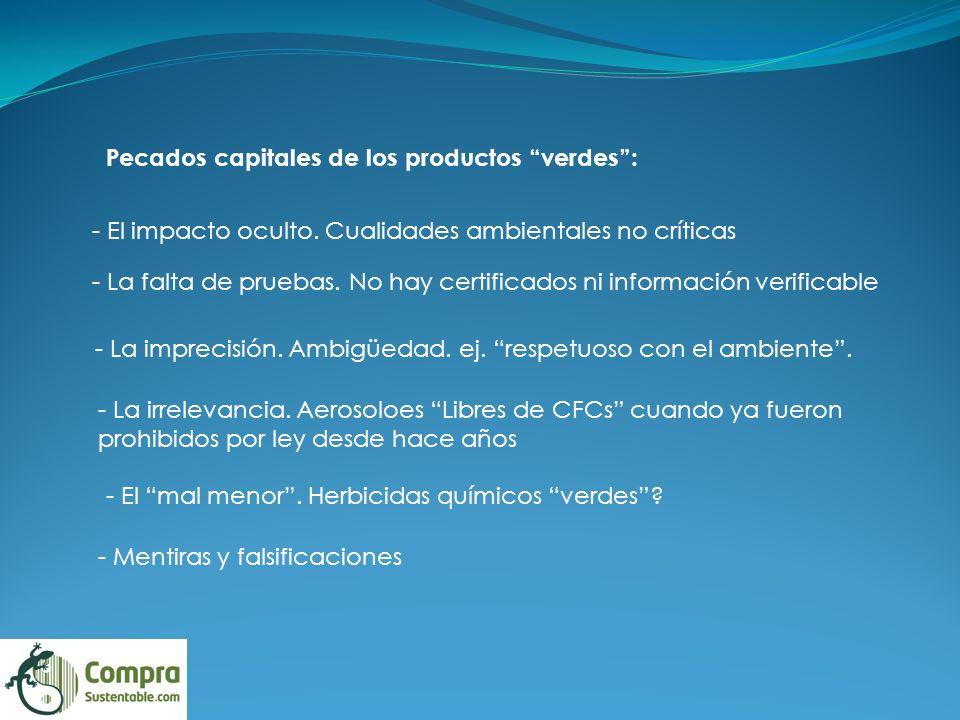 Pecados capitales de los productos verdes :