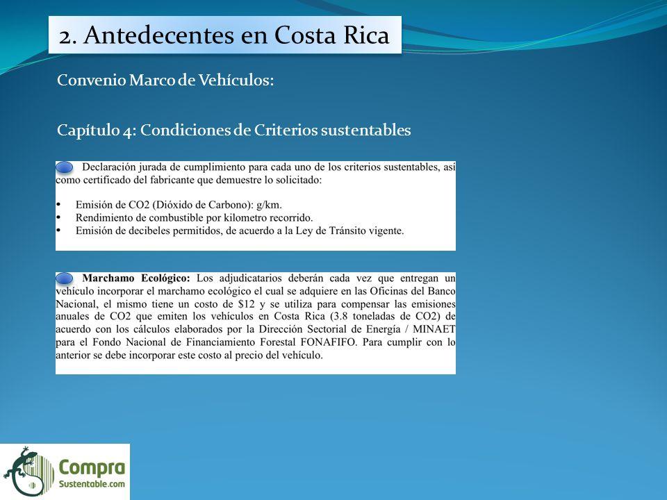 2. Antedecentes en Costa Rica