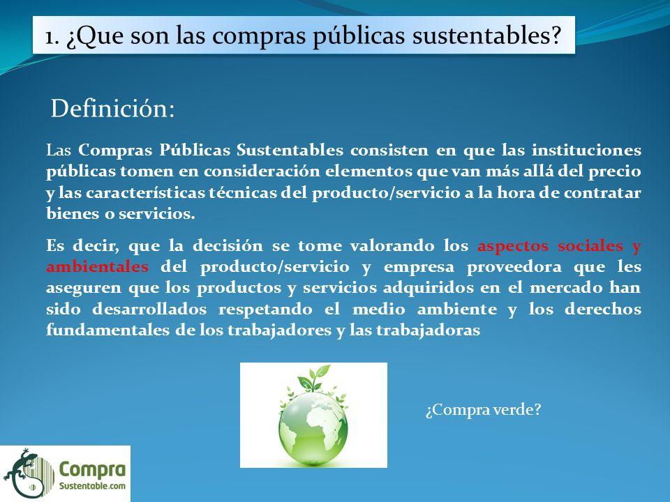 1. ¿Que son las compras públicas sustentables