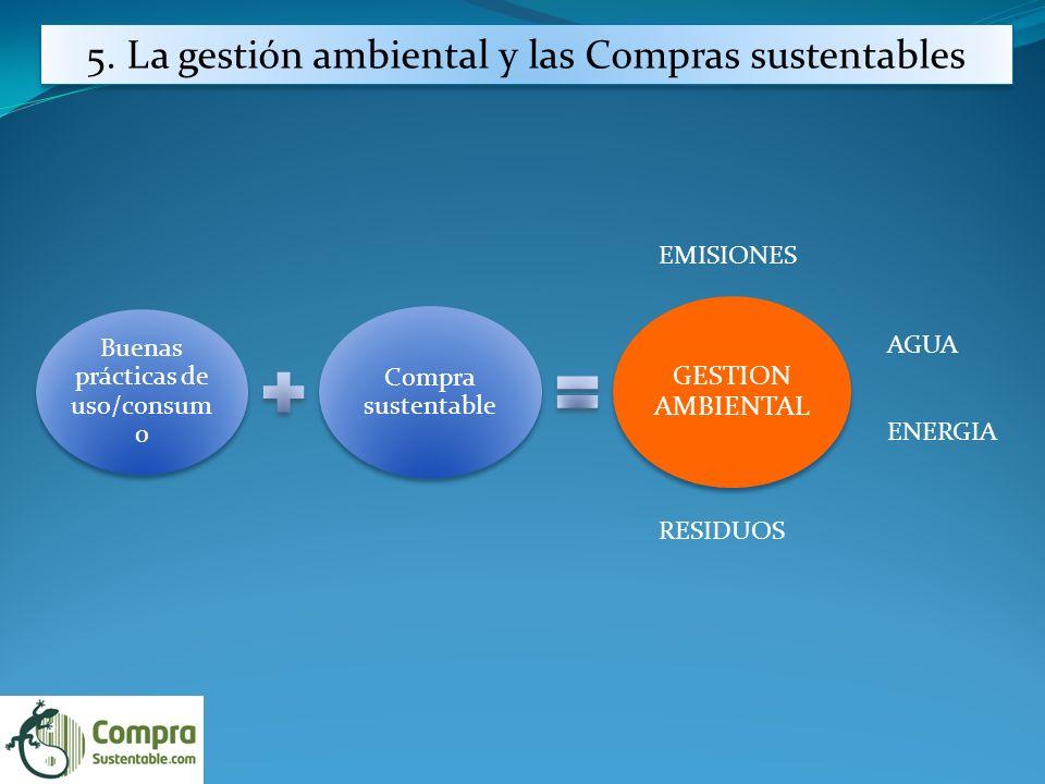 5. La gestión ambiental y las Compras sustentables