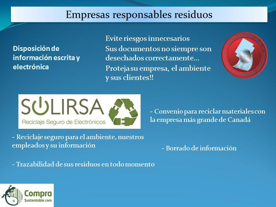 Empresas responsables residuos