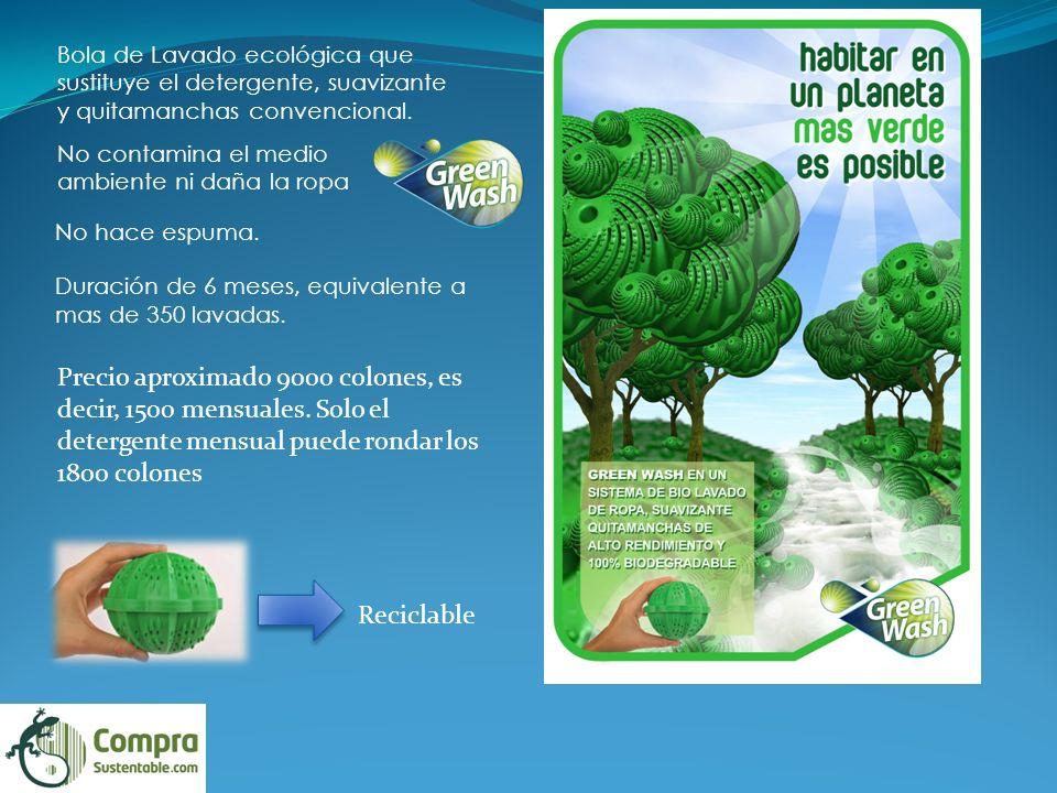Bola de Lavado ecológica que sustituye el detergente, suavizante y quitamanchas convencional.