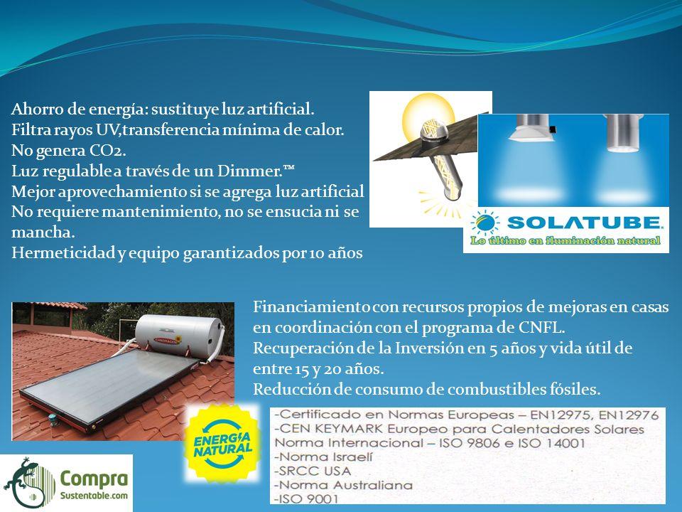 Ahorro de energía: sustituye luz artificial.