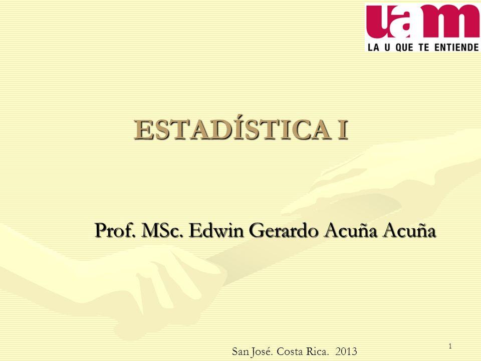Prof. MSc. Edwin Gerardo Acuña Acuña
