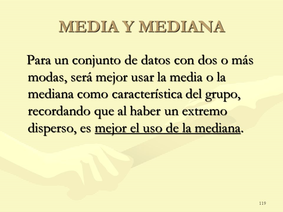 MEDIA Y MEDIANA