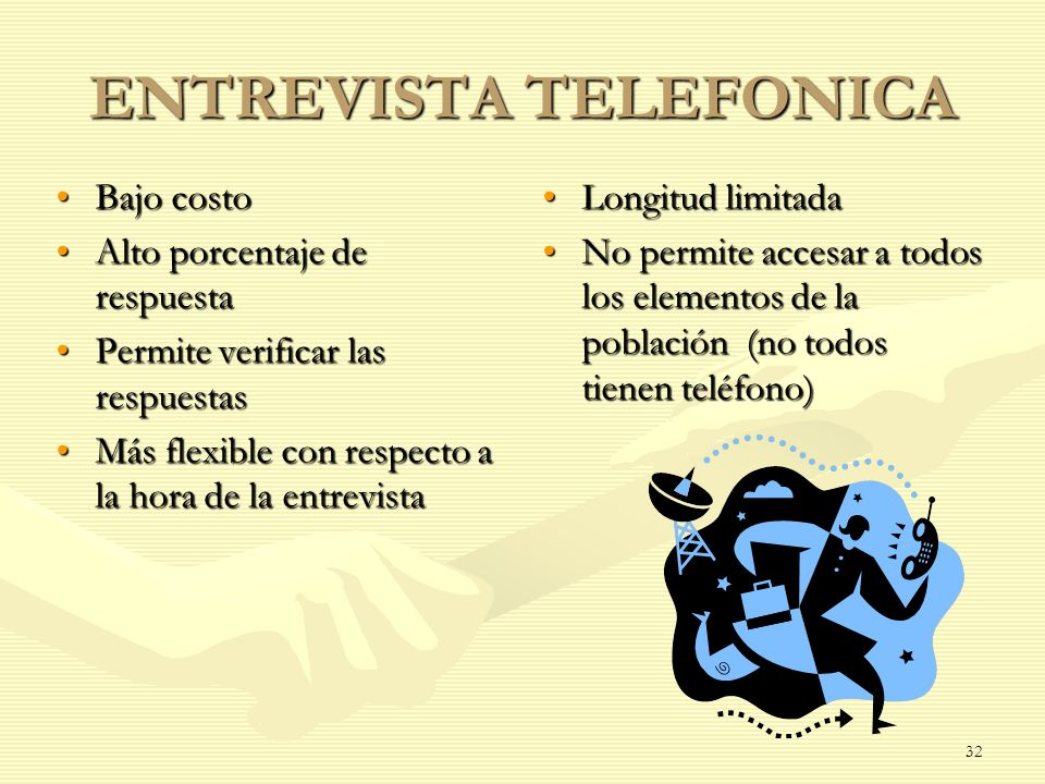 ENTREVISTA TELEFONICA