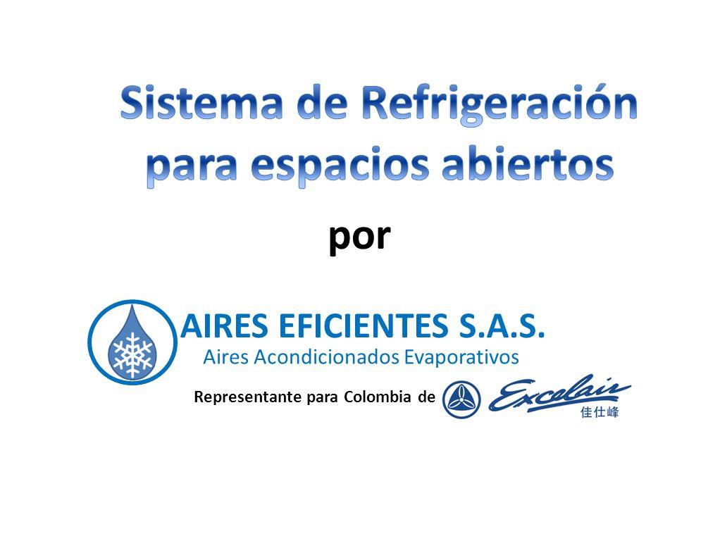 Sistema de Refrigeración para espacios abiertos