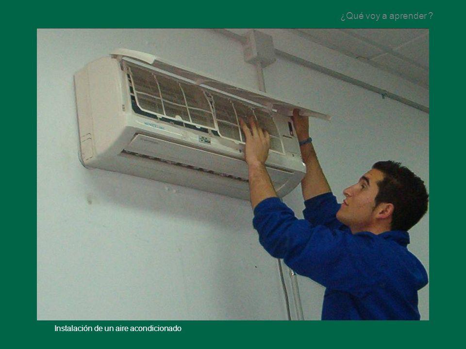 ¿Qué voy a aprender Instalación de un aire acondicionado