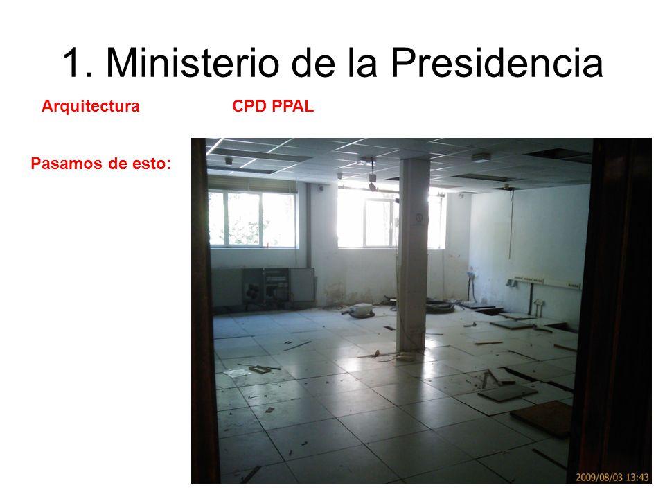 1. Ministerio de la Presidencia