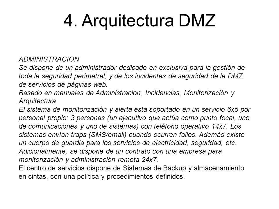 4. Arquitectura DMZ ADMINISTRACION