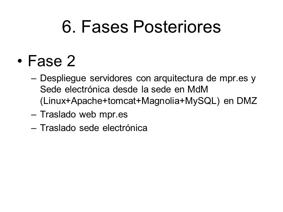 6. Fases Posteriores Fase 2