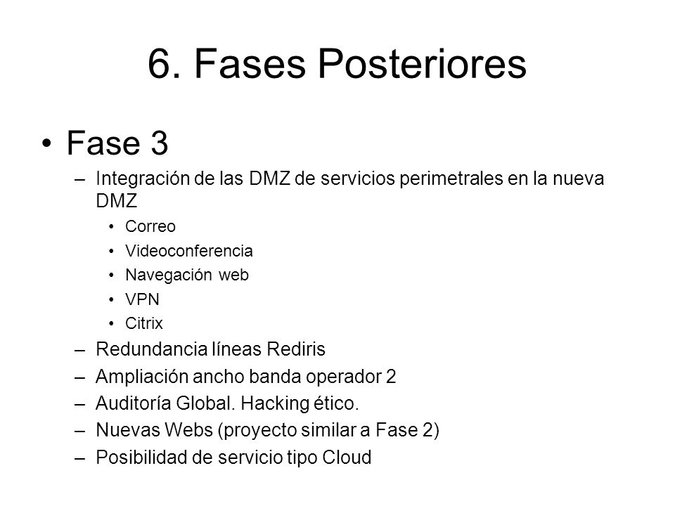 6. Fases Posteriores Fase 3