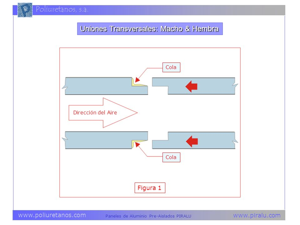 Uniones Transversales: Macho & Hembra
