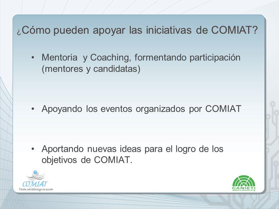 ¿Cómo pueden apoyar las iniciativas de COMIAT