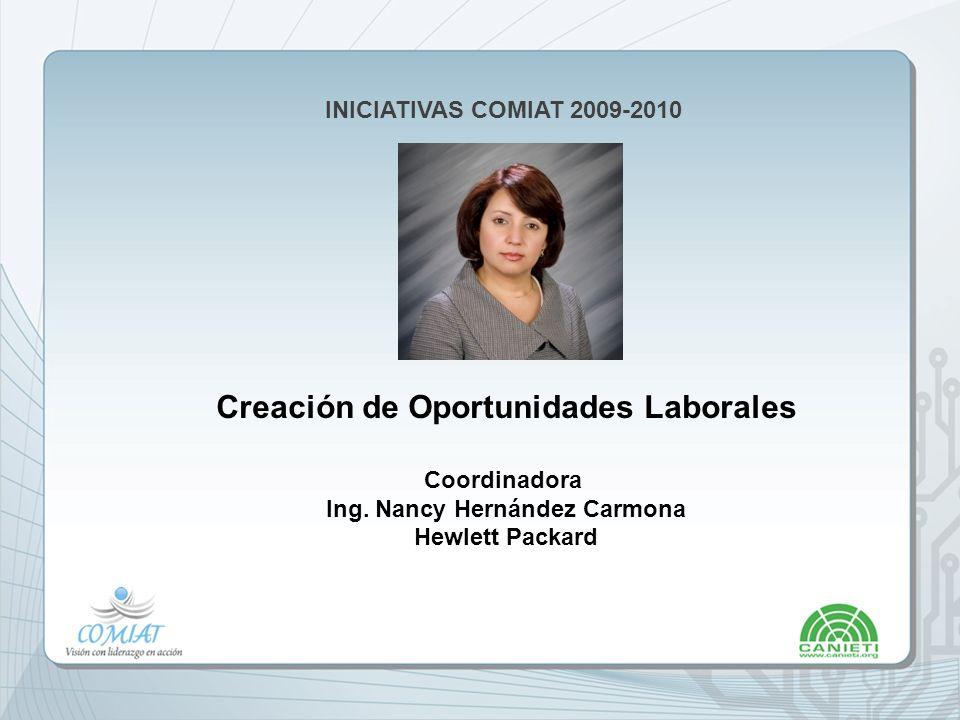 Creación de Oportunidades Laborales Ing. Nancy Hernández Carmona