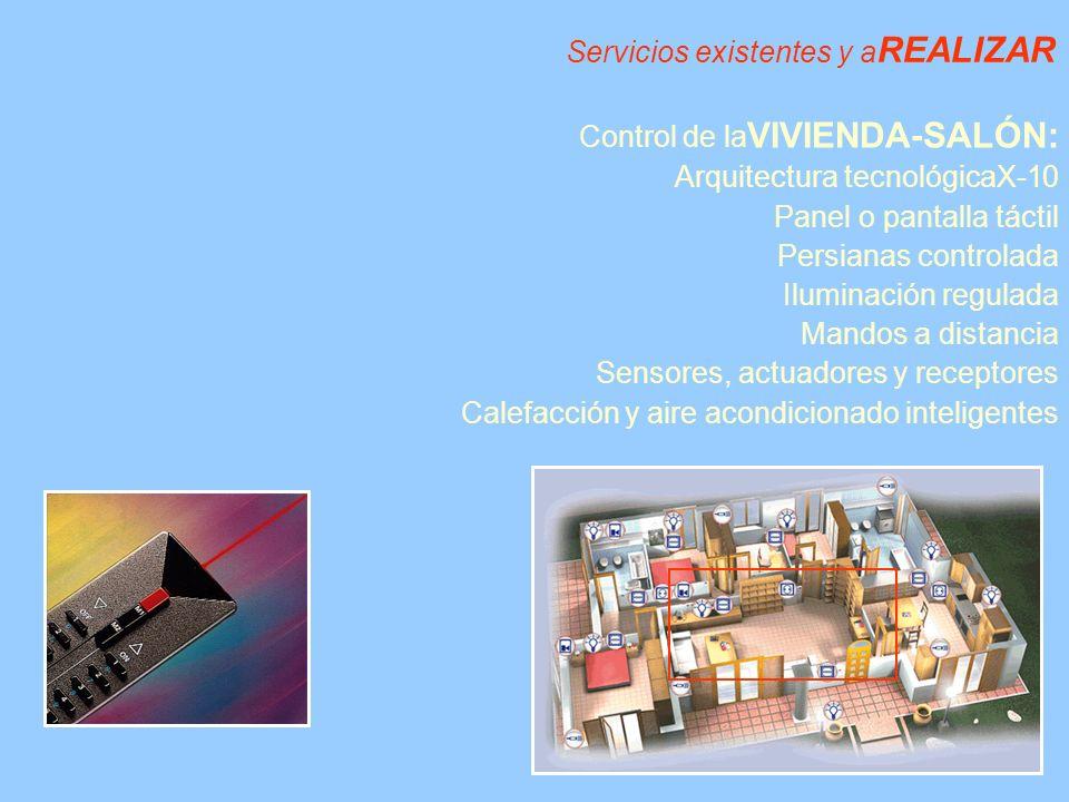 Servicios existentes y aREALIZAR