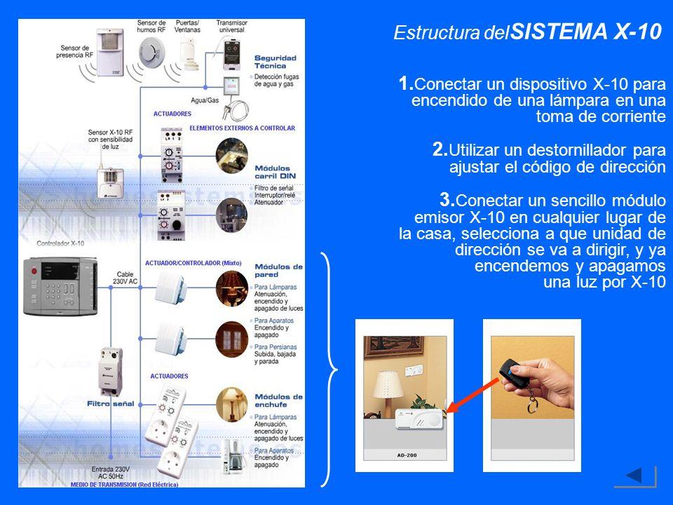 Estructura delSISTEMA X-10
