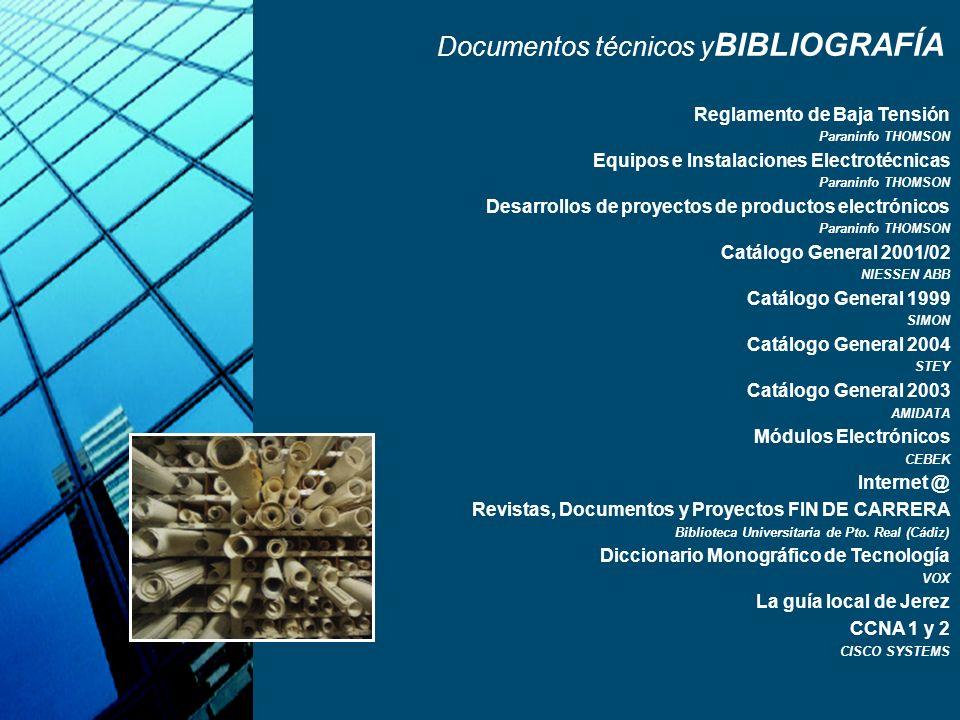 Documentos técnicos yBIBLIOGRAFÍA