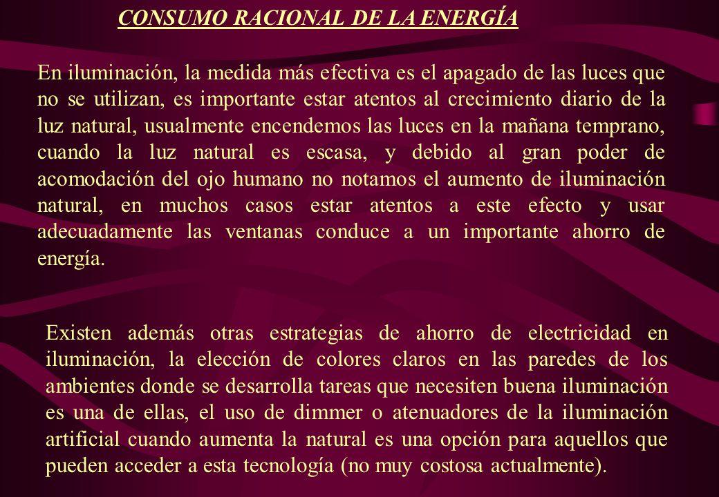CONSUMO RACIONAL DE LA ENERGÍA