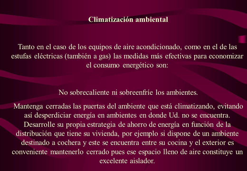 Climatización ambiental
