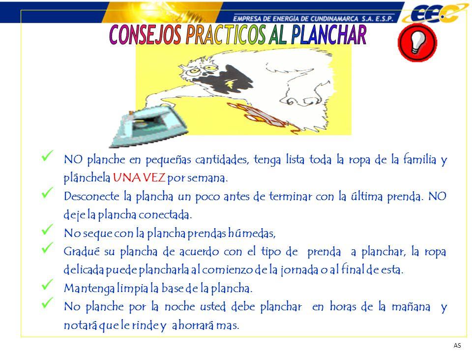 CONSEJOS PRACTICOS AL PLANCHAR