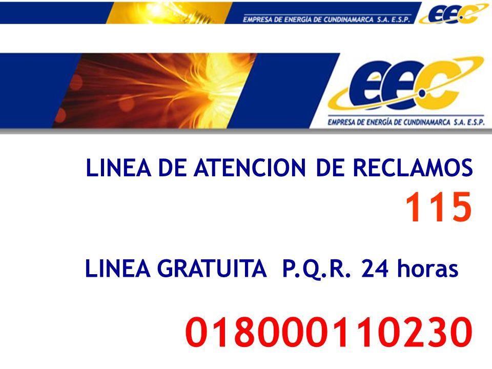 018000110230 LINEA DE ATENCION DE RECLAMOS 115
