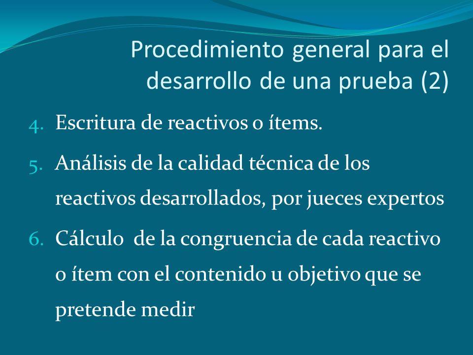 Procedimiento general para el desarrollo de una prueba (2)