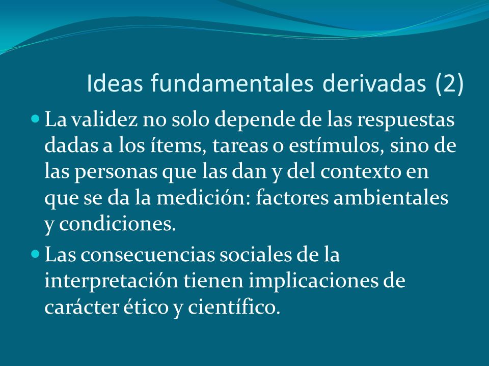 Ideas fundamentales derivadas (2)