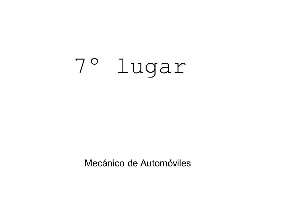 7º lugar Mecánico de Automóviles