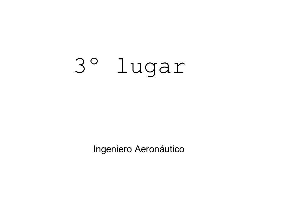 3º lugar Ingeniero Aeronáutico