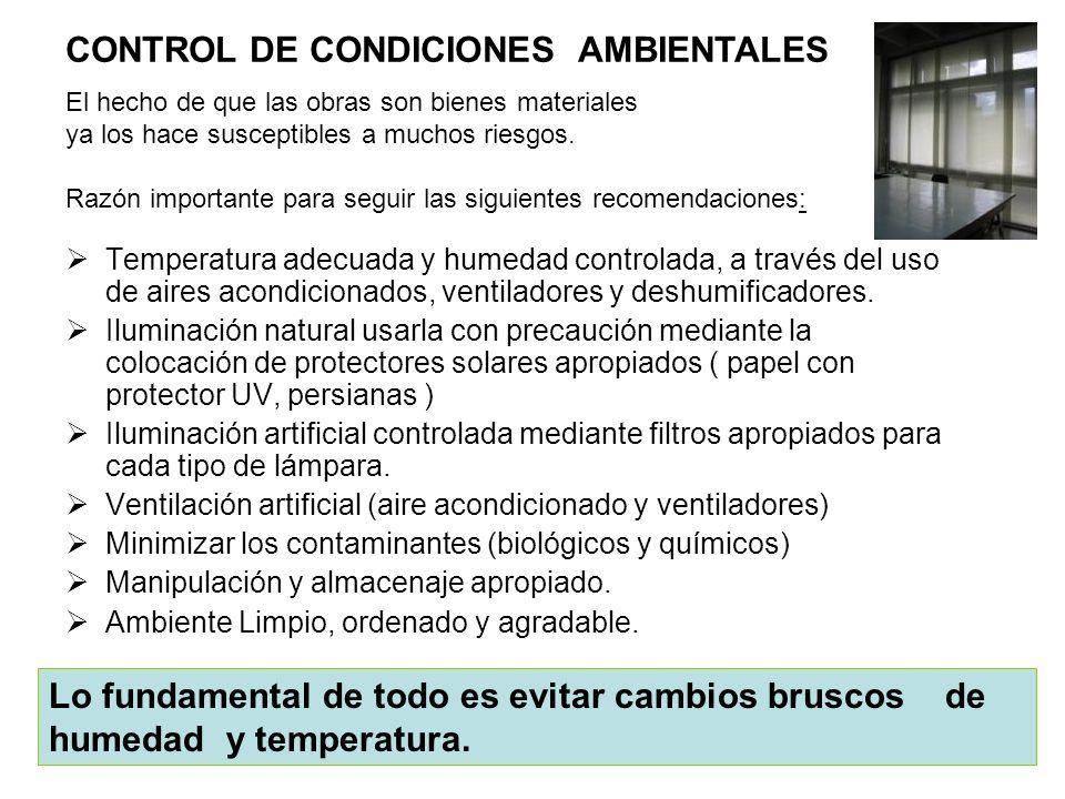 CONTROL DE CONDICIONES AMBIENTALES