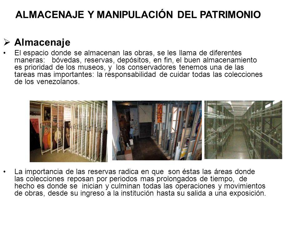 ALMACENAJE Y MANIPULACIÓN DEL PATRIMONIO