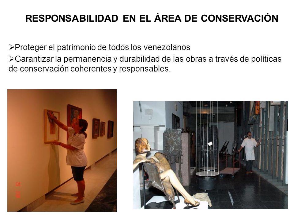 RESPONSABILIDAD EN EL ÁREA DE CONSERVACIÓN