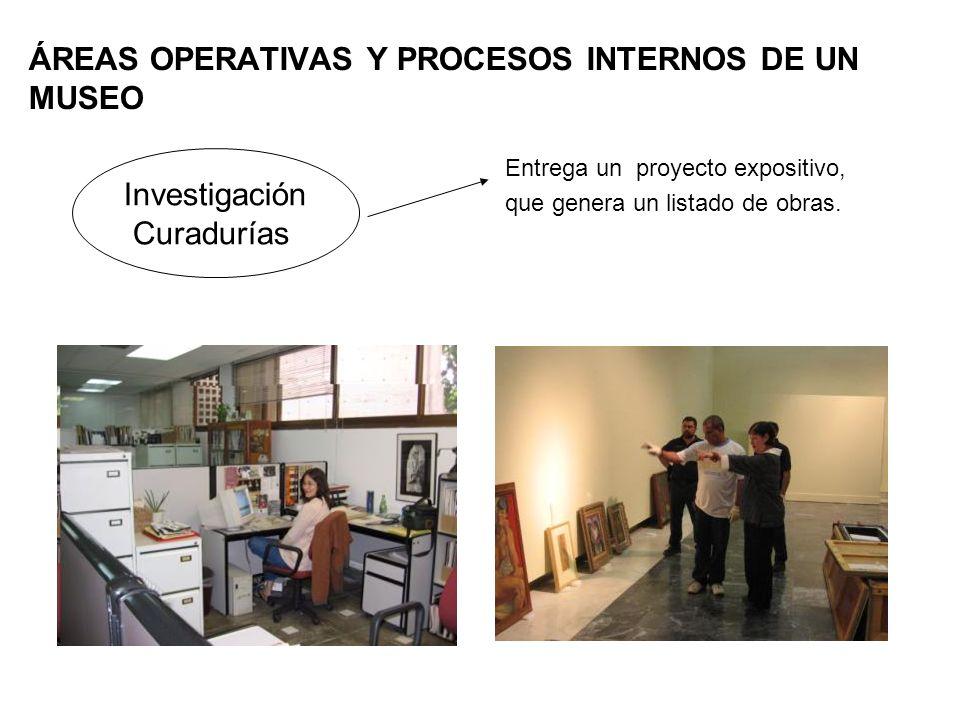 ÁREAS OPERATIVAS Y PROCESOS INTERNOS DE UN MUSEO