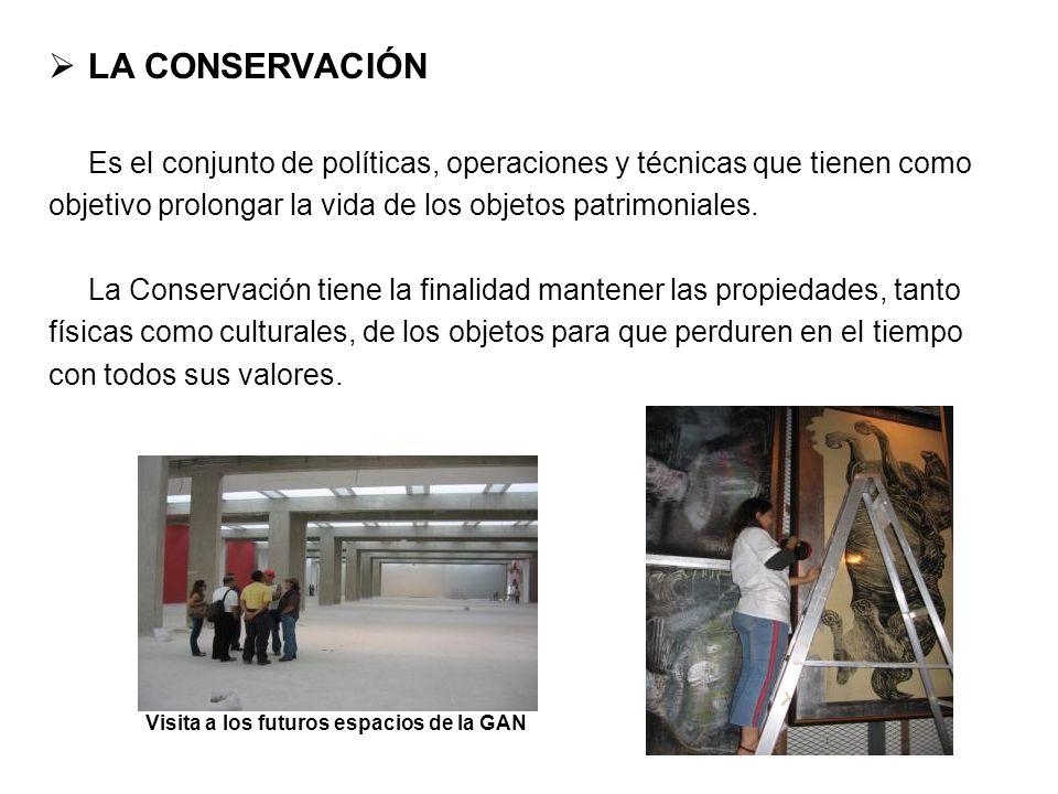 LA CONSERVACIÓN Es el conjunto de políticas, operaciones y técnicas que tienen como. objetivo prolongar la vida de los objetos patrimoniales.