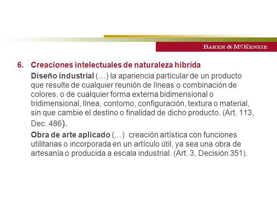 6. Creaciones intelectuales de naturaleza híbrida