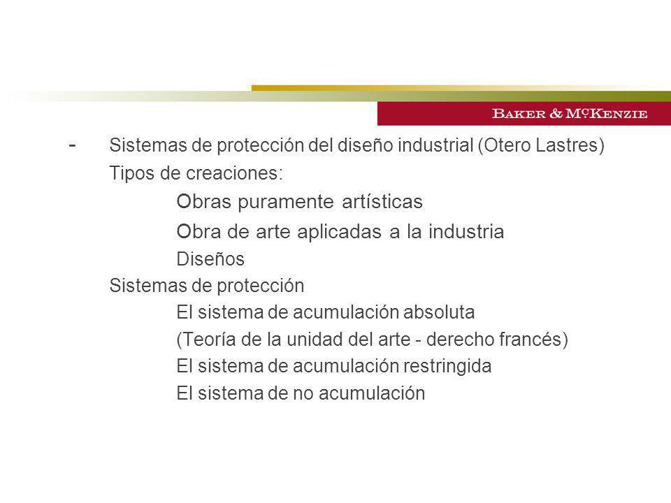 - Sistemas de protección del diseño industrial (Otero Lastres)