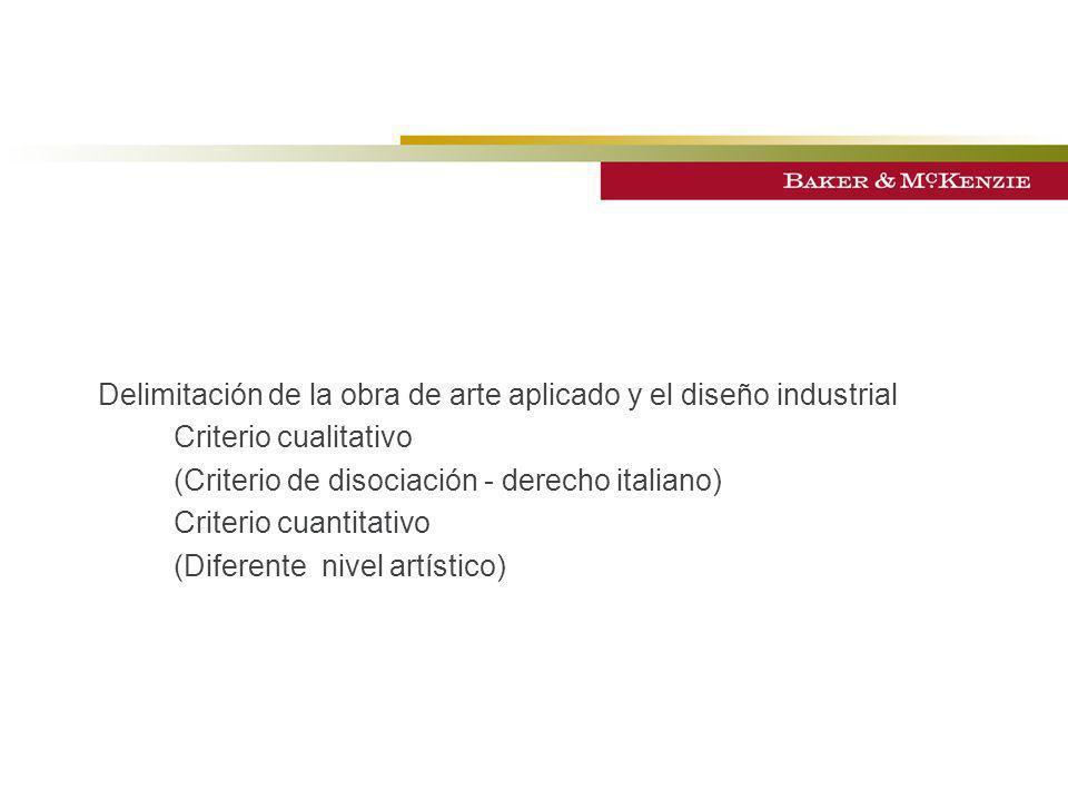 Delimitación de la obra de arte aplicado y el diseño industrial