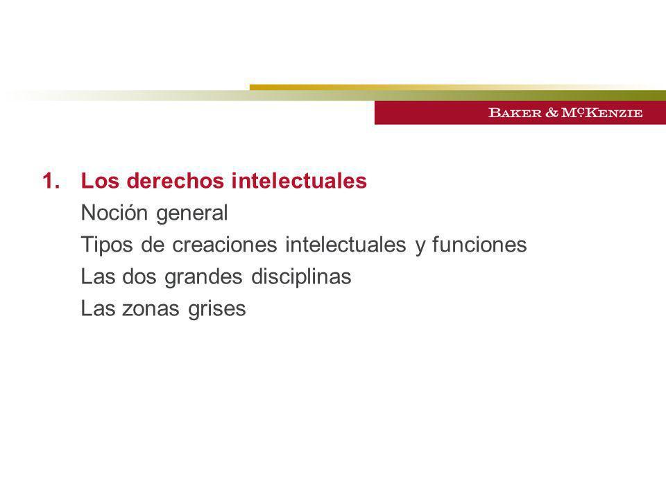 1. Los derechos intelectuales Noción general