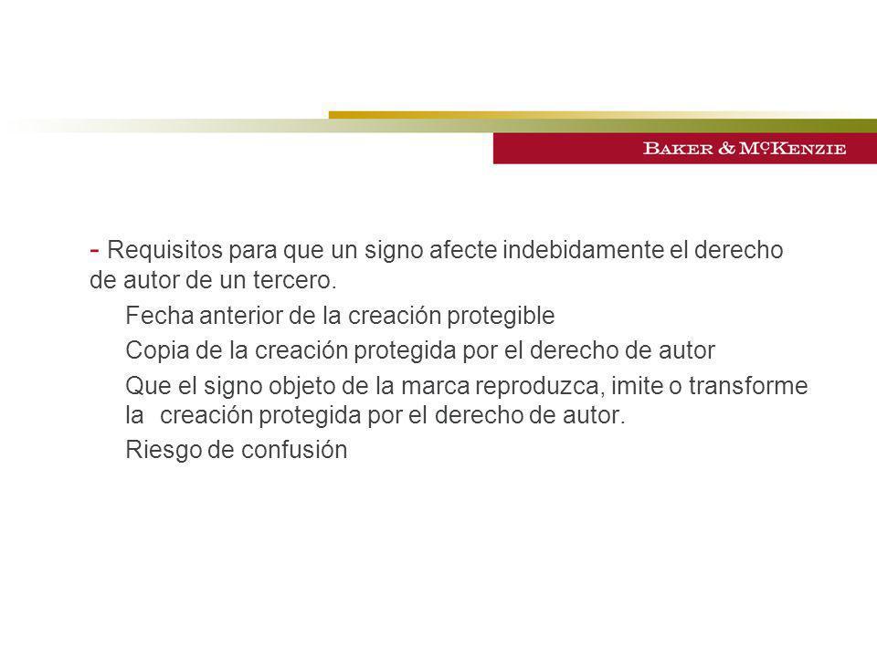 - Requisitos para que un signo afecte indebidamente el derecho