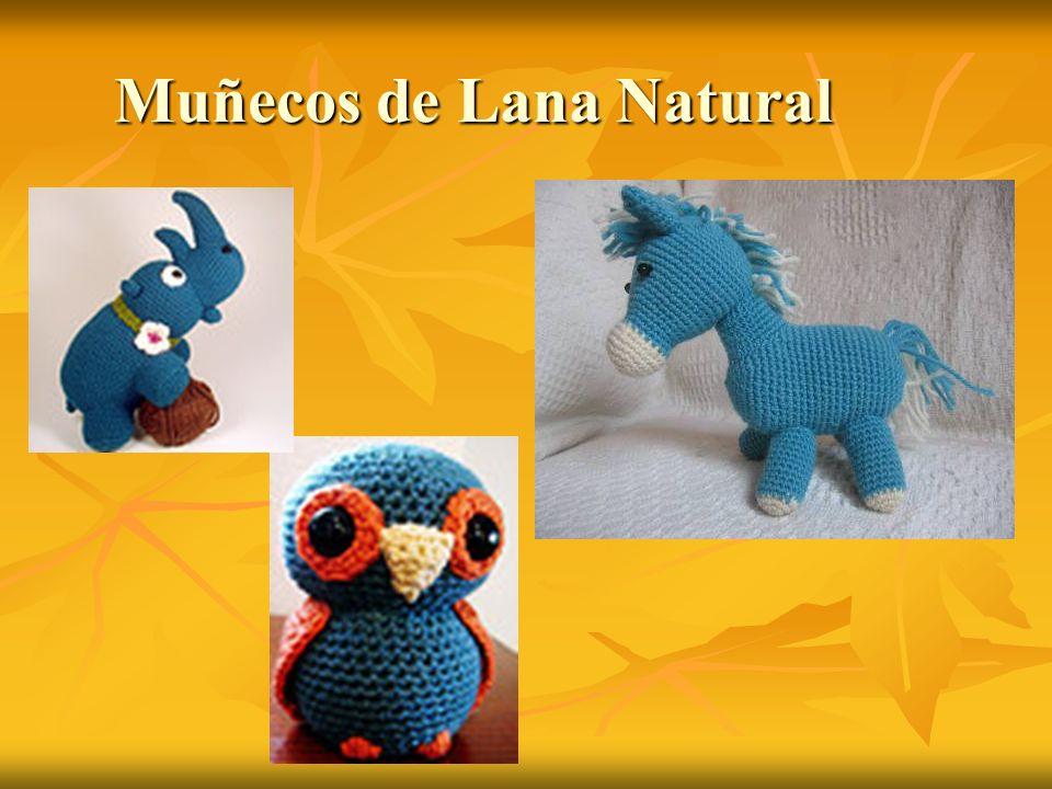 Muñecos de Lana Natural