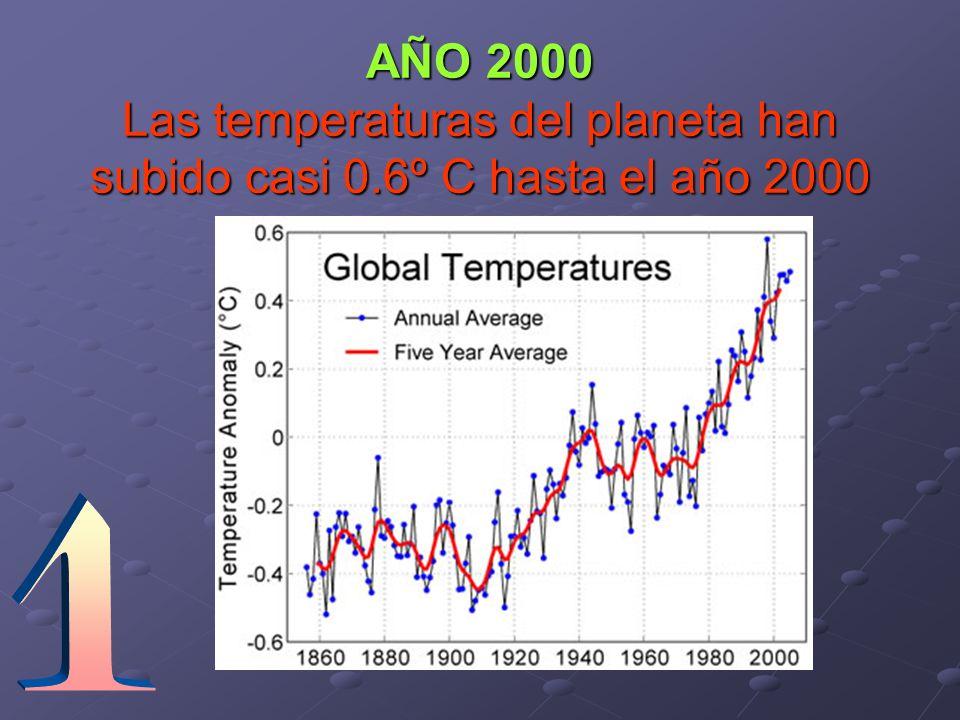 AÑO 2000 Las temperaturas del planeta han subido casi 0