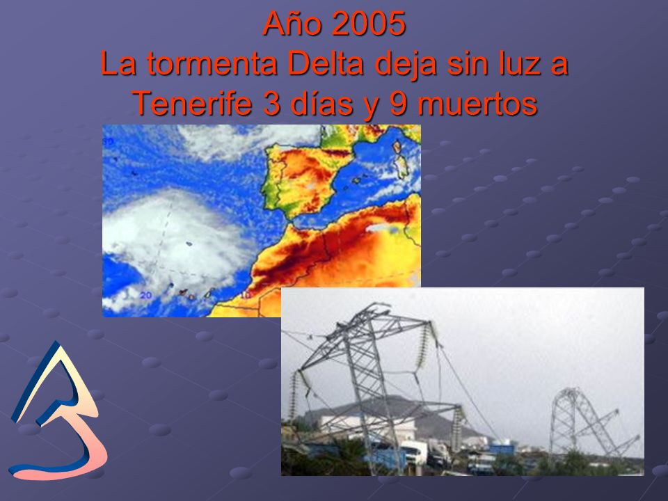 Año 2005 La tormenta Delta deja sin luz a Tenerife 3 días y 9 muertos