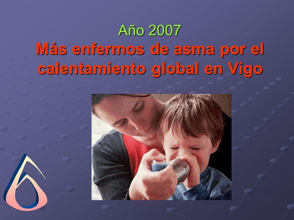 Año 2007 Más enfermos de asma por el calentamiento global en Vigo