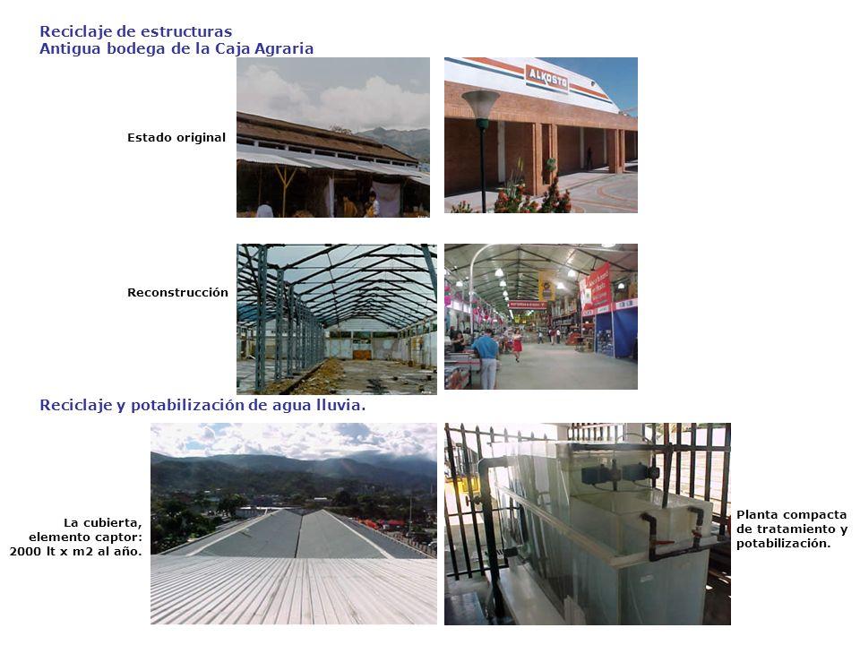 Reciclaje de estructuras Antigua bodega de la Caja Agraria