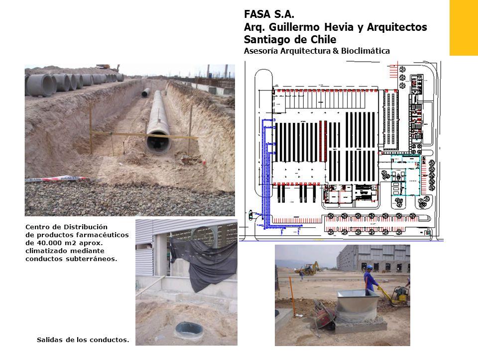 FASA S.A. Arq. Guillermo Hevia y Arquitectos Santiago de Chile Asesoría Arquitectura & Bioclimática